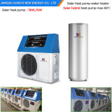 A HOME Using 60deg c Dhw conserva a potência Cop5.32 220V 5kw 260L de 80%, 7kw 300L, calefator de ar solar híbrido rachado da bomba de calor do ar de 9kw Tankless