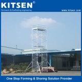 다재다능한 유연한 알루미늄 이동할 수 있는 비계 계단 탑