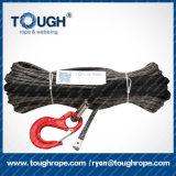"""2/5 """" línea sintetizada cable gris 4WD de la cuerda del torno de X100FT de la recuperación"""
