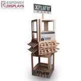 Стеллаж для выставки товаров карты POS выполненный на заказ сделанный от древесины