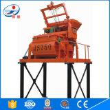 Máquina dobro horizontal do misturador concreto do eixo para preço de canteiro de obras o baixo