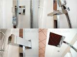 Wasserzeichen-Zustimmungs-Messingaufbau-Chrom-Dusche-Set
