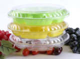 Диск Sub-Решетки подноса 6 пластичный упаковывать более толщиной коробки плодоовощ отрезока плодоовощ одноразовый прозрачный Vegetable 2 фунта
