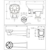 низкая камера CCTV иК PTZ люкса 1.3MP