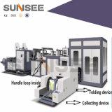 Bolso no tejido automático de la maneta del arroz que hace la máquina