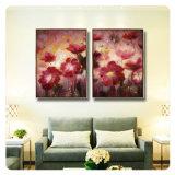 Illustration décorative abstraite de fleur de peinture pour la maison, bureau, décoration de salle de séjour