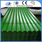 上塗を施してある波形アルミニウム鋼鉄屋根ふきシートを着色しなさい