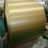 De hete Gouden Kleur van de Verkoop bedekte de de het Geborstelde Blad/Plaat/Rol van het Aluminium met een laag