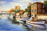 Venda por grosso paisagem mediterrânica artesanais pintura a óleo para a Gallery