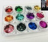 مستطيل شكل ليزر تلألؤ لأنّ مسمار فنّ ومسمار جمال لؤلؤة لون [سري] 12 ألوان [كغ] تعليب