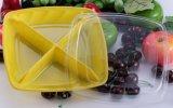 Caixa plástica transparente descartável do corte da fruta fresca da caixa da salada da caixa da fruta