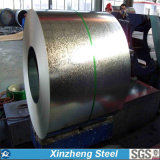 SGCC Dx51d galvanizó la bobina de acero con la lentejuela normal