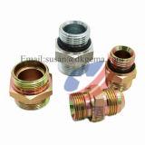 Adaptadores hidráulicos ajustables de la tuerca y del anillo o del eslabón giratorio del acero de carbón y adaptador apropiado del acoplador de la te cruzada