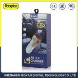 Max 2.4A 2 porta USB Carregador Veicular para celular/Produto Digital