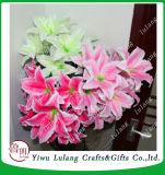 Lirio de perfume de flores de seda artificial Decoración de boda flor de tigre