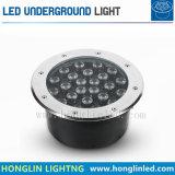 24W sepultado luz de piso de LED de luz LED RGB Luz Subterrâneo