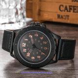 Relojes de encargo de la manera del reloj del cuarzo del hombre de la insignia para los hombres (WY-17015D)