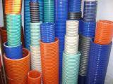 Cadena de producción plástica de la protuberancia del tubo del tubo del manguito acanalado espiral espiral del manguito del aire