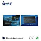 Ultra delgado de 5,0 pulgadas TFT LCD Color Folleto Vídeo con formato AVI MP4