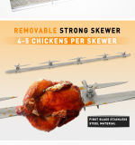 販売のための新しく、ニースのステンレス鋼のガスの鶏のRotisserie