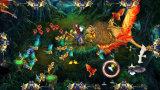 Het muntstuk In werking gestelde Spel van de Arcade van de Jager van de Vissen van de Safari van de Koning van de Leeuw van de Machine van het Spel van de Simulator van de Visserij
