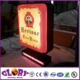상점 정면을%s LED 진공에 의하여 형성되는 아크릴 원형 Lightbox Signage를 광고하는 최고 가격