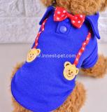 2017 Bären-Haustier-Hunde-Kleidungs-Polo-Hemd mit Querbindern