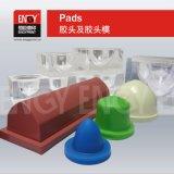 Fatura acrílica transparente personalizada do molde da borracha de silicone da impressão da almofada