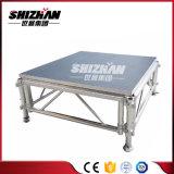 Fácil montaje de aluminio muebles etapa portátiles baratos