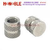 L'écrou d'injection, de diamant dans trou borgne en acier inoxydable de l'écrou moleté