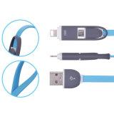 2 de alta qualidade em 1 Restractable cabo de dados USB para o Android para iPhone