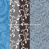100%Polyester la diffusione profonda dell'azzurro 3D ha stampato il tessuto per l'insieme dell'assestamento
