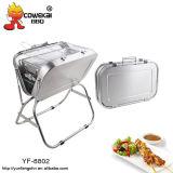Valise de charbon de bois Barbecue grill de la famille de la forme de cuisson gril party de plein air
