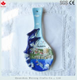 Tabla de artículos de recuerdo Ware cerámica hecha a mano una cuchara Decoraiton Home