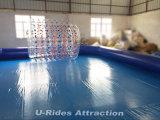 単一の管が付いている膨脹可能な水泳の正方形のプール