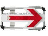 Sinal de tráfego do sentido da seta do diodo emissor de luz