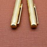 Оптовая торговля металлический шарик шариковой ручки Золотые ручки с лазерной печати логотип (LT-E096)