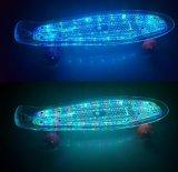 Planche à roulettes en plastique électrique de clignotement de mini panneau de patin d'éclairage LED