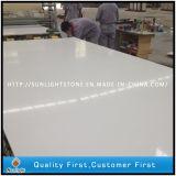 Pietra bianca del quarzo costruita colore bianco di superficie solido