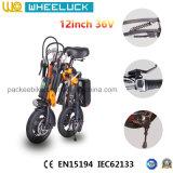 CE bicicleta eléctrica del plegamiento popular de 12 pulgadas con el motor de 36V 250W