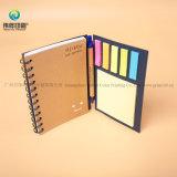Ordinateur portable A6 à couverture rigide personnalisée avec Notepad couvre le fabricant de papier