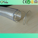 Manguito reforzado claro del resorte del manguito/PVC del alambre de acero del PVC
