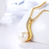 Forma de agua de oro del medio ambiente Collar de perlas para las mujeres