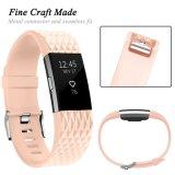 Buntes Silikon-Uhrenarmband mit Faltenbildung für Fitbit Ladung 2