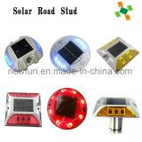 Espárrago solar de aluminio del camino con el LED rojo y blanco