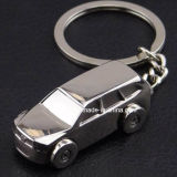 Voiture de SUV de conception 3D de la forme de chaîne de clé métallique avec bague