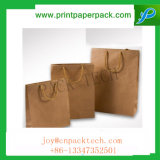La couleur des sacs en papier kraft imprimé Sos déjeuner Aliments transporteur poignées à emporter