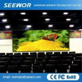 Dünne Schrank P3mm Innen-LED-Bildschirmanzeige für Miete