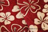 빨간 현대 디자인 (FTH31129)에 있는 셔닐 실에 의하여 길쌈되는 직물