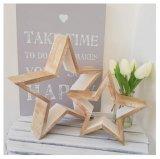 В деревенском стиле Set 2 звезды из натурального дерева для дома украшения